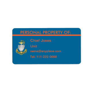USCG CPO Personal Property Label Address Label