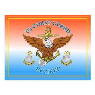 USCG CPO Retired Eagle Anchor Shield Postcard