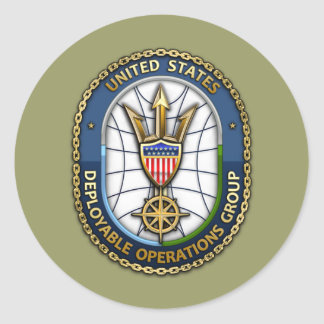 USCG Deployable Operations Group) Round Sticker