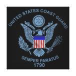 USCG Flag Emblem Gallery Wrapped Canvas