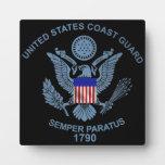 USCG Flag Emblem Photo Plaque