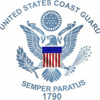 USCG Flag Emblem Standing Photo Sculpture