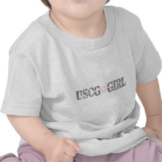 USCG Girl Camo T-shirts
