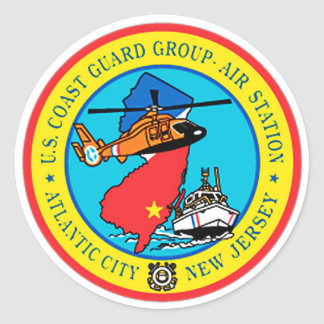 USCG Group Air Station New Jersey Classic Round Sticker