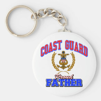 USCG Proud Father Key Ring