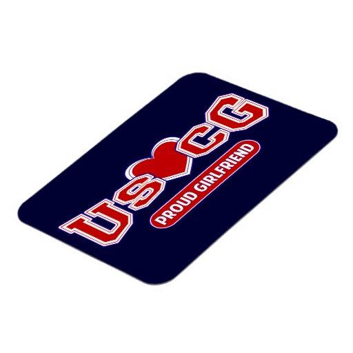 USCG Proud Girlfriend Rectangular Magnets