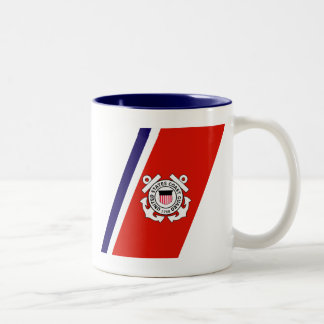 USCG Racing Stripe - Right Coffee Mug