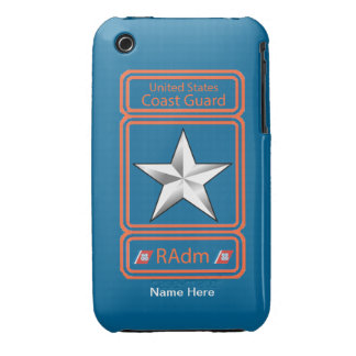 USCG Rear Admiral Logo iPhone 3 Case-Mate Cases