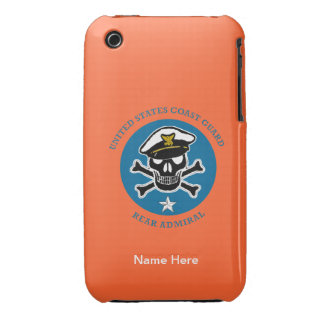 USCG Rear Admiral (lower half) iPhone 3 Cases