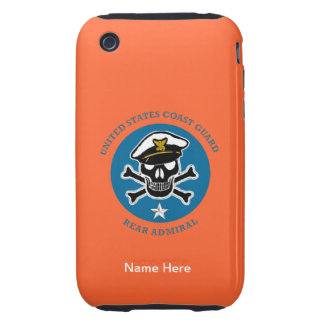 USCG Rear Admiral (lower half) Tough iPhone 3 Cover