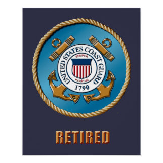 USCG Retired Poster