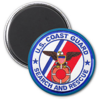 USCG Search and Rescue 6 Cm Round Magnet
