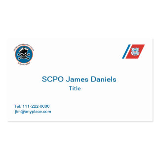 USCG Senior Chief Petty Officer Business Card Template