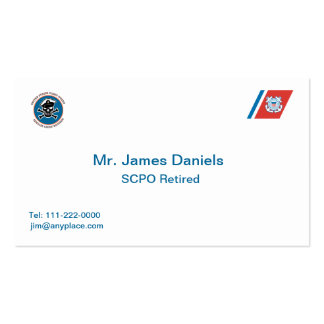 USCG Senior Chief Petty Officer Business Cards