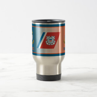 USCG Senior Chief Petty Officer Shield Stainless Steel Travel Mug