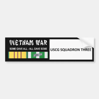 USCG SQUADRON THREE VIETNAM WAR VETERAN BUMPER STICKER