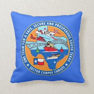 USCG Station Corpus Christi Texas Cushion