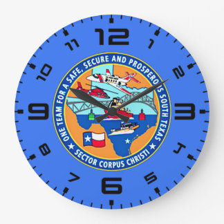 USCG Station Corpus Christi Texas Large Clock