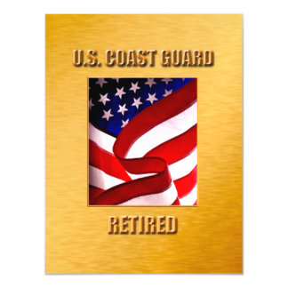 USCG Thin Magnetic Card Magnetic Invitations