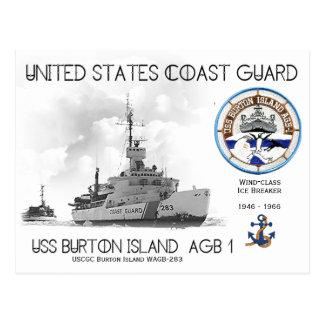 USCGC Burton Island WAGB-283 Ice Breaker Postcard