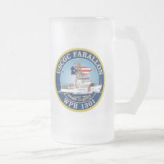 USCGC Farallon WPB-1301 Frosted Glass Mug