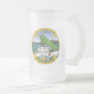 USCGC Key Largo WPB-1324 Frosted Glass Mug