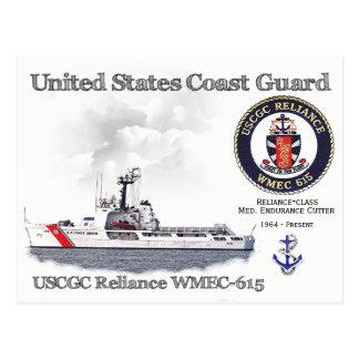 USCGC Reliance WMEC-615 Cutter Postcard