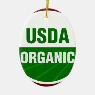 USDA Organic certificate Christmas Ornament