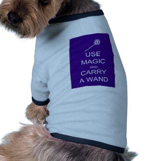Use Magic Carry A Wand Pet T Shirt