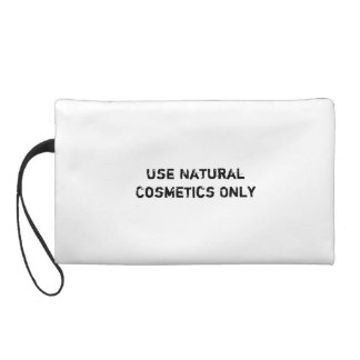 Use Natural Cosmetics Only Wristlet Clutch