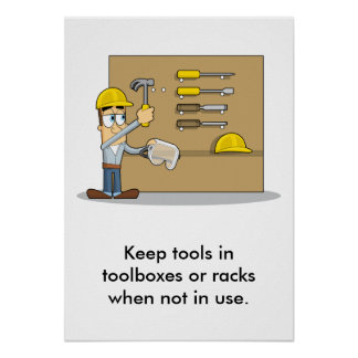 Use of Hand Tools 002 Poster