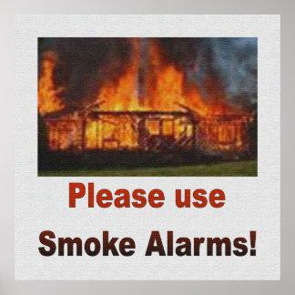 USE SMOKE ALARMS SAFETY POSTER