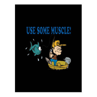 Use Some Muscle Postcard