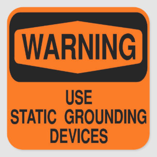 Use static grounding device square sticker