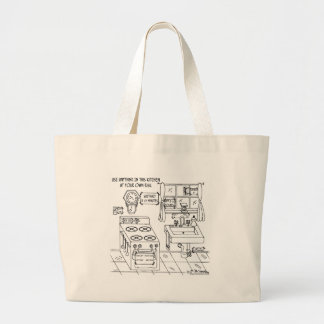 Use This Kitchen At Your Own Risk Jumbo Tote Bag
