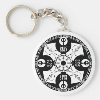 Use Your Head Basic Round Button Key Ring