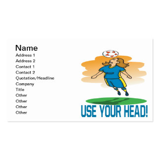 Use Your Head Double-Sided Standard Business Cards (Pack Of 100)
