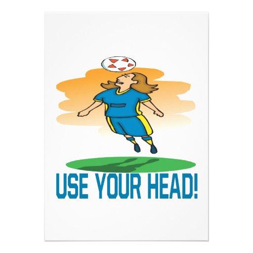 Use Your Head Invites