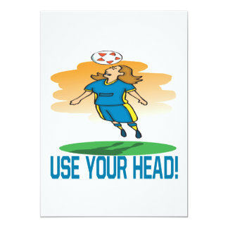 Use Your Head 13 Cm X 18 Cm Invitation Card