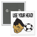 Use Your Head Pinback Button