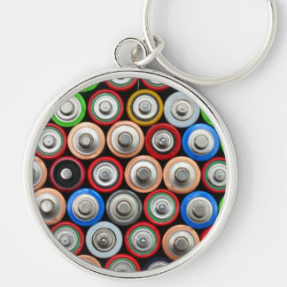 used alkaline battery pattern texture background r key ring