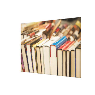 Used books at a rummage sale canvas print