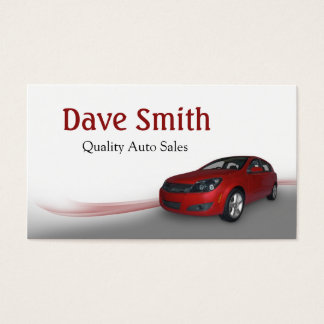 Used Car Dealer and Service Business Card