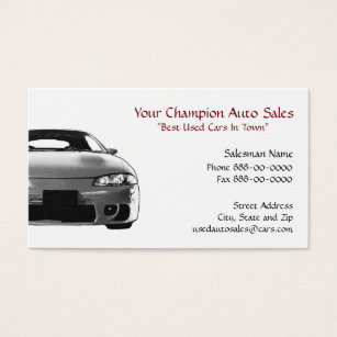 Used cars business cards business card printing zazzle uk used car dealer business card reheart Choice Image