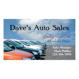 Used Car Salesman Pack Of Standard Business Cards