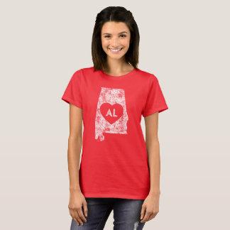 Used I Love Alabama State Women's Basic T-Shirt