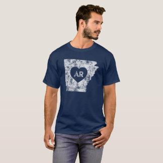 Used I Love Arkansas State Men's Dark T-Shirt
