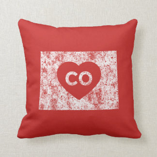 Used I Love Colorado State Throw Pillow