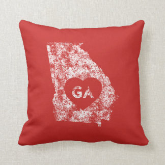 Used I Love Georgia State Throw Pillow