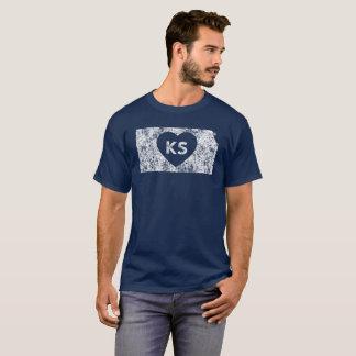 Used I Love Kansas State Men's Basic Dark T-Shirt